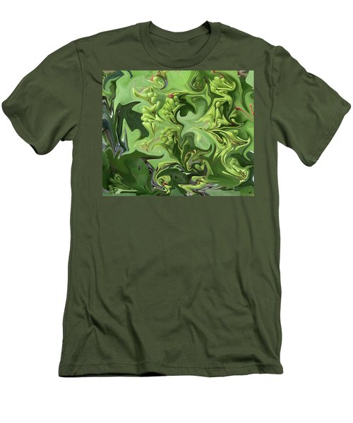 Sanibel Seagrapes Men's T-Shirt (Slim Fit) by Melinda Saminski