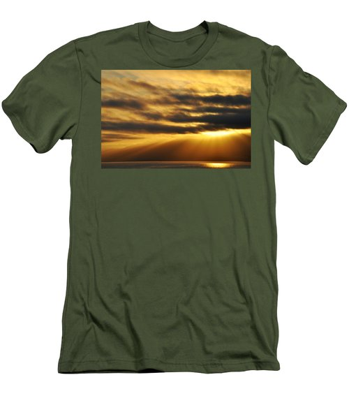 Men's T-Shirt (Slim Fit) featuring the photograph Santa Monica Golden Hour by Kyle Hanson