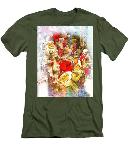 Santa Scene 1 Men's T-Shirt (Athletic Fit)