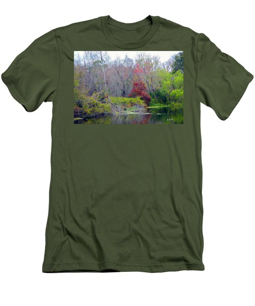Men's T-Shirt (Slim Fit) featuring the photograph Sarasota Reflections by Madeline Ellis