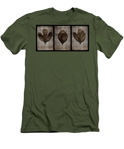 Sassafras Leaves With Wicker Men's T-Shirt (Athletic Fit)