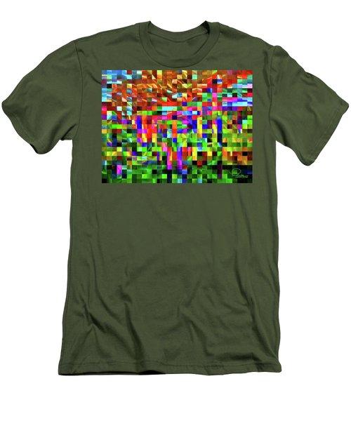 Satin Tiles Men's T-Shirt (Athletic Fit)