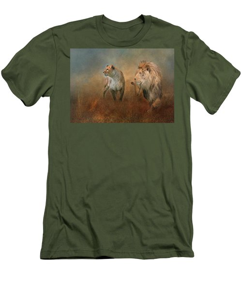 Savanna Lions Men's T-Shirt (Athletic Fit)