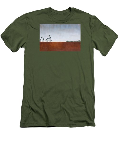 Savannah Landscape Everglades Men's T-Shirt (Slim Fit) by Rich Franco