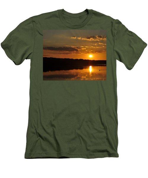 Savannah River Sunset Men's T-Shirt (Athletic Fit)