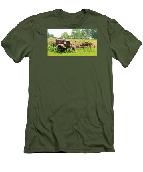 Men's T-Shirt (Slim Fit) featuring the photograph Saw Better Days by Jeanette Oberholtzer