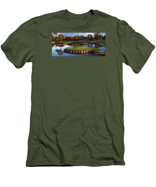 Sawgrass 17th Hole Hol Men's T-Shirt (Slim Fit) by Tim Gilliland