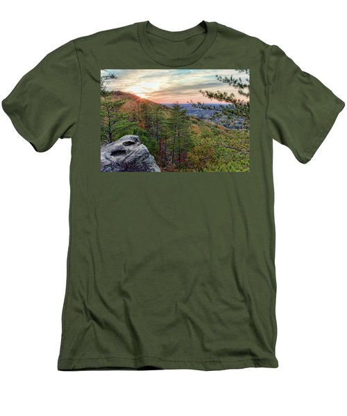 Sawnee Mountain And The Indian Seats Men's T-Shirt (Athletic Fit)