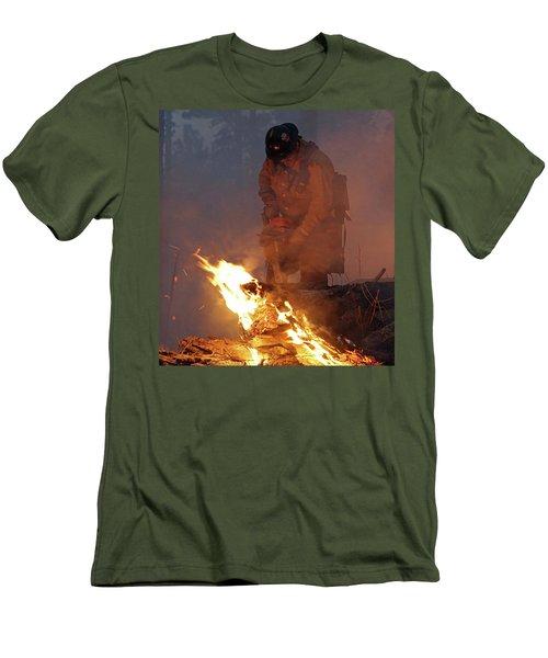 Sawyer, North Pole Fire Men's T-Shirt (Athletic Fit)