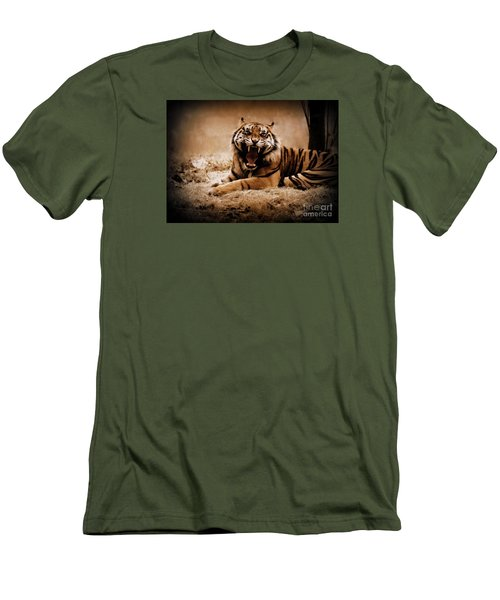 Men's T-Shirt (Slim Fit) featuring the photograph Saying Hello by Lisa L Silva