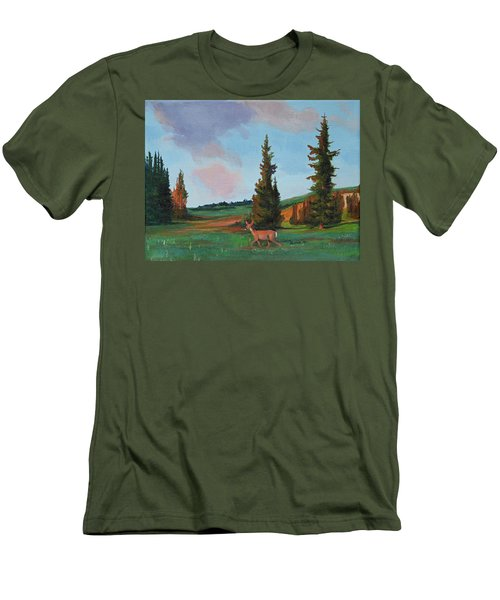 Scapegoat Summer Sunset Men's T-Shirt (Athletic Fit)
