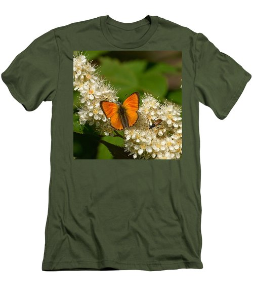 Men's T-Shirt (Slim Fit) featuring the photograph Scarce Copper 2 by Jouko Lehto