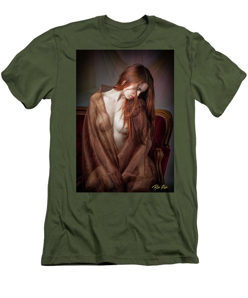 Men's T-Shirt (Athletic Fit) featuring the photograph Scarlet Repose by Rikk Flohr