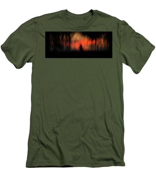 Men's T-Shirt (Slim Fit) featuring the photograph Scary Nights by Marilyn Hunt