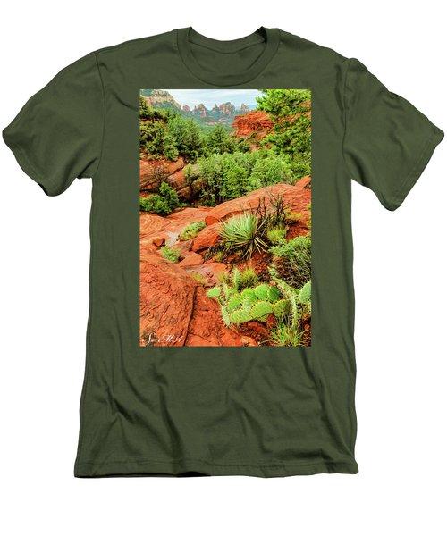Schnebly Hill 07-057 Men's T-Shirt (Slim Fit) by Scott McAllister