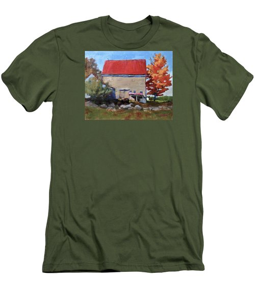 Schoolhouse Farm, Warren, Maine Men's T-Shirt (Athletic Fit)