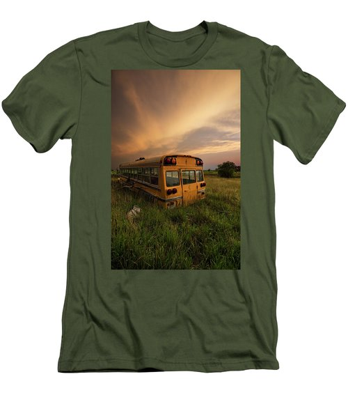 Men's T-Shirt (Athletic Fit) featuring the photograph School's Out  by Aaron J Groen