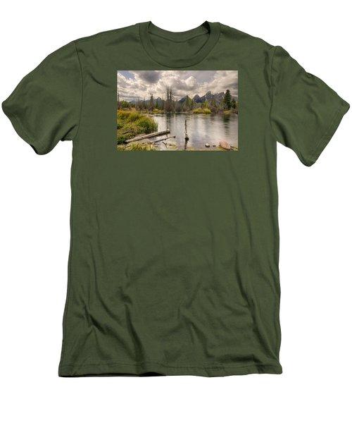 Schwabachers Landing Men's T-Shirt (Slim Fit) by John Gilbert