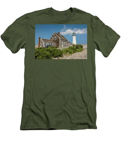 Scituate Lighthouse In Scituate, Ma Men's T-Shirt (Athletic Fit)