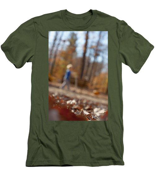 Men's T-Shirt (Athletic Fit) featuring the photograph Scootering At The Park by Greg Collins