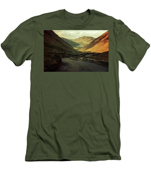 Scotland At The Sunset Men's T-Shirt (Slim Fit) by Jaroslaw Blaminsky