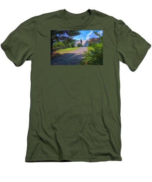 Men's T-Shirt (Slim Fit) featuring the photograph Scott Farm Summer by Tom Singleton