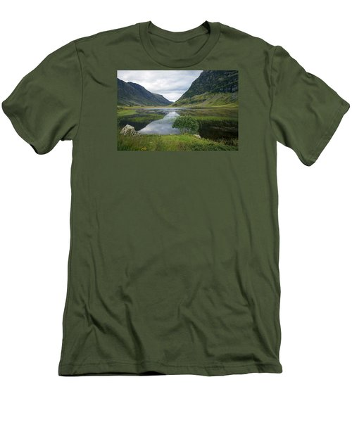 Scottish Tranquility Men's T-Shirt (Slim Fit) by Dubi Roman
