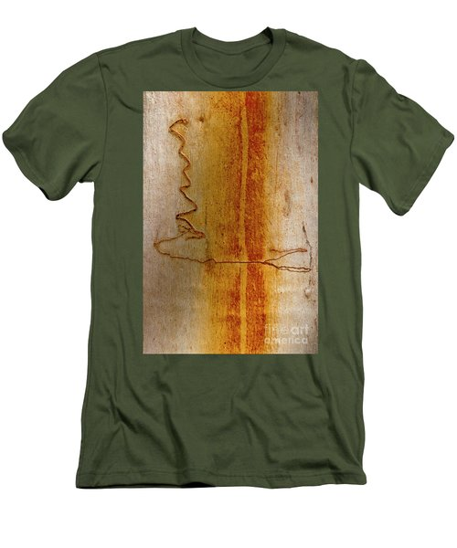 Men's T-Shirt (Slim Fit) featuring the photograph Scribbly Gum Bark by Werner Padarin