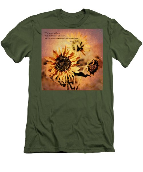 Scripture - 1 Peter One 24-25 Men's T-Shirt (Slim Fit) by Glenn McCarthy Art and Photography