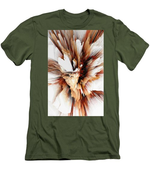 Men's T-Shirt (Athletic Fit) featuring the digital art Sculptural Series Digital Painting 23.120210ext5100l by Kris Haas