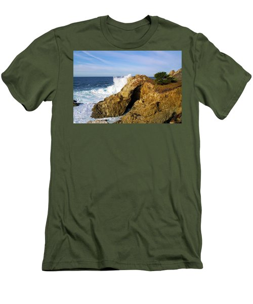 Men's T-Shirt (Slim Fit) featuring the photograph Sea Cave Big Sur by Floyd Snyder