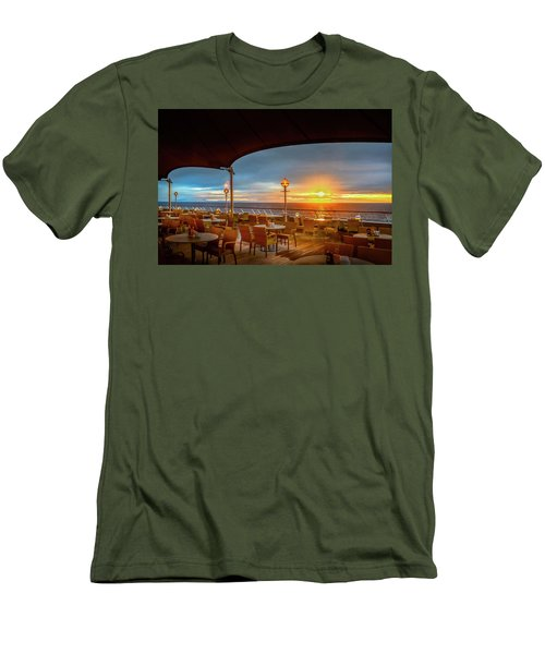 Men's T-Shirt (Athletic Fit) featuring the photograph Sea Cruise Sunrise by John Poon