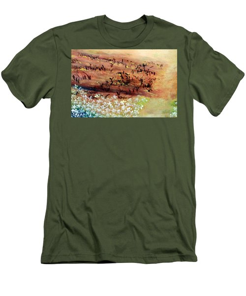 Men's T-Shirt (Athletic Fit) featuring the painting Sea Earth  by Winsome Gunning