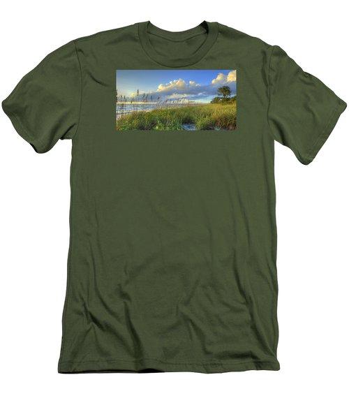 Sea Oats Men's T-Shirt (Slim Fit) by Sean Allen