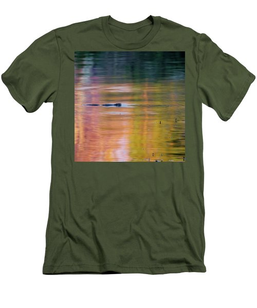 Men's T-Shirt (Slim Fit) featuring the photograph Sea Of Color Square by Bill Wakeley