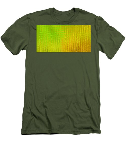 Sea Song Green And Gold Men's T-Shirt (Slim Fit)