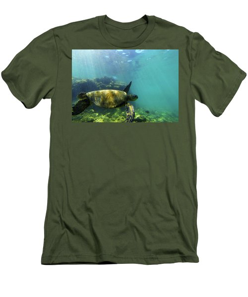 Men's T-Shirt (Slim Fit) featuring the photograph Sea Turtle #5 by Anthony Jones
