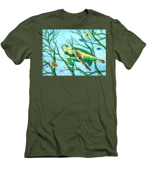 Sea Turtle Series #3 Men's T-Shirt (Athletic Fit)