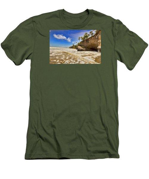 Sea Waves Men's T-Shirt (Slim Fit) by Nadia Sanowar