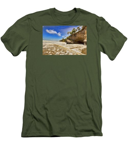 Sea Waves Men's T-Shirt (Athletic Fit)