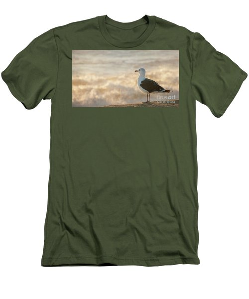 Seagull At Sunrise Men's T-Shirt (Athletic Fit)