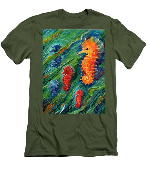 Seahorse  Men's T-Shirt (Athletic Fit)