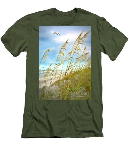 Seaoats Fantasy Men's T-Shirt (Slim Fit) by Linda Olsen
