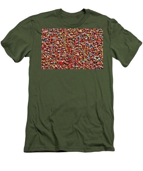 Seattle Gum Wall 2 Men's T-Shirt (Slim Fit) by Allen Beatty