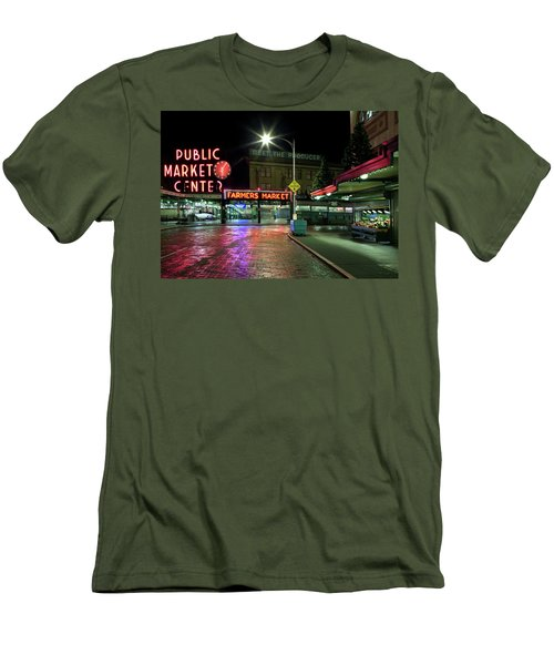 Seattle Public Market 1 Men's T-Shirt (Athletic Fit)