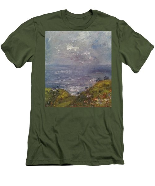 Seaview Men's T-Shirt (Slim Fit) by Genevieve Brown