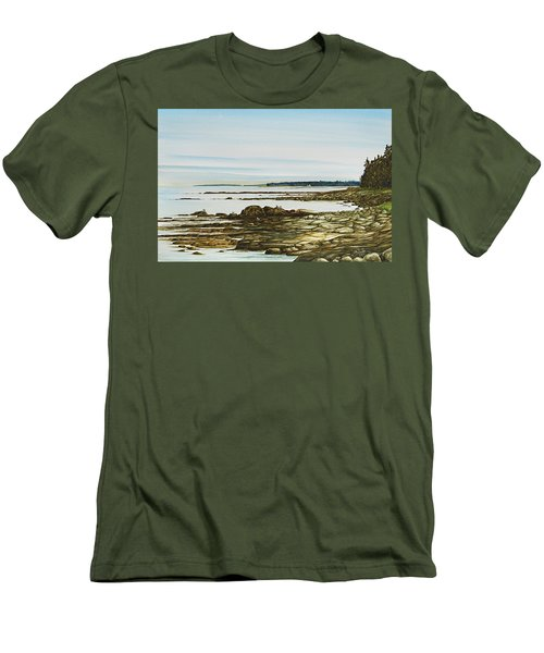 Seawall Mt. Desert Island Men's T-Shirt (Athletic Fit)