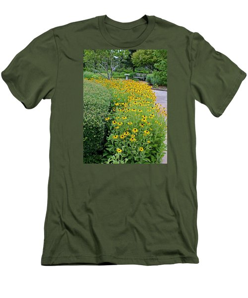 Men's T-Shirt (Slim Fit) featuring the photograph Secret Garden by Judy Vincent