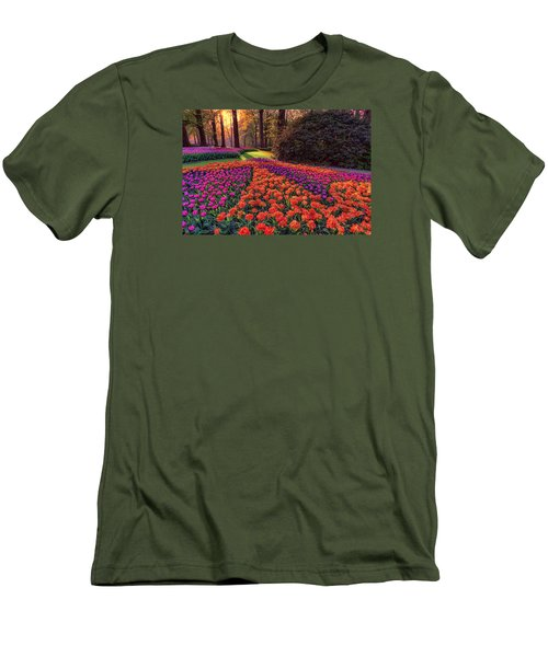 Secret Garden Men's T-Shirt (Slim Fit) by Nadia Sanowar