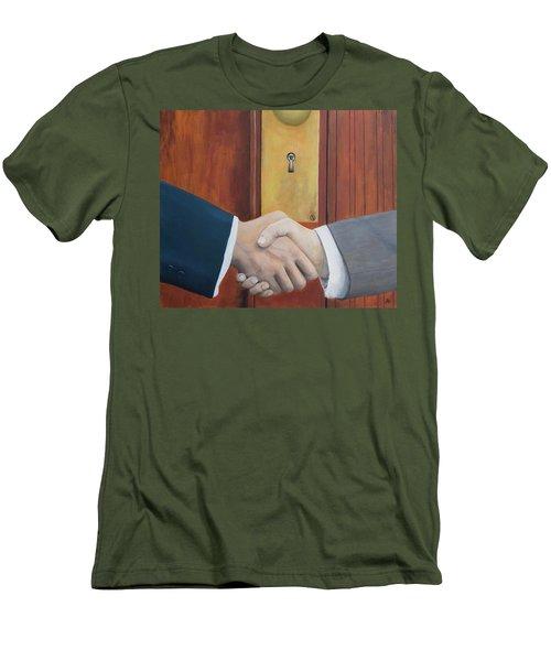 Secret Handshake Men's T-Shirt (Athletic Fit)